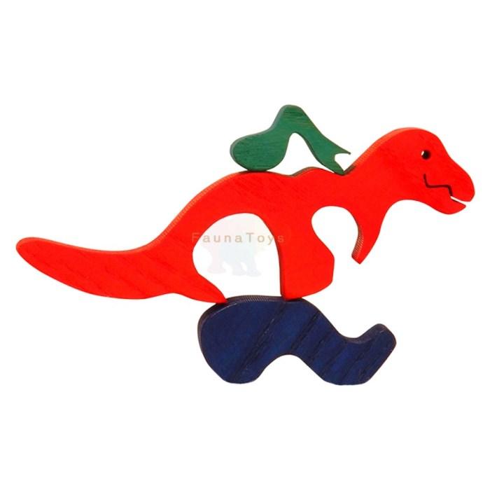 Drevene puzzle t-rex