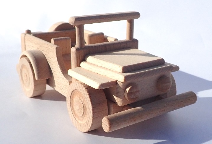 Holzauto-jeep