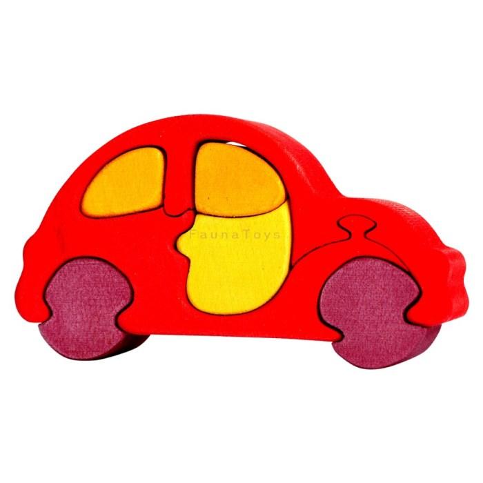 Puzzle Auto male cervene