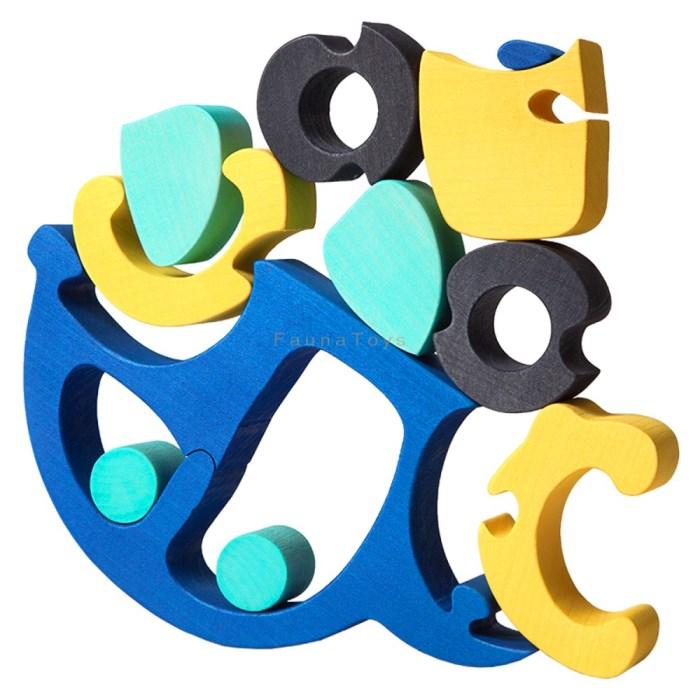 Puzzle Auto modre