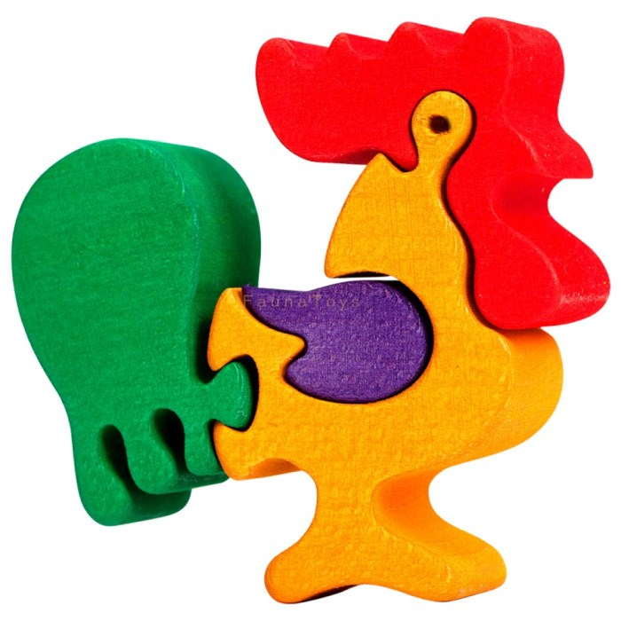Puzzle kohout maly