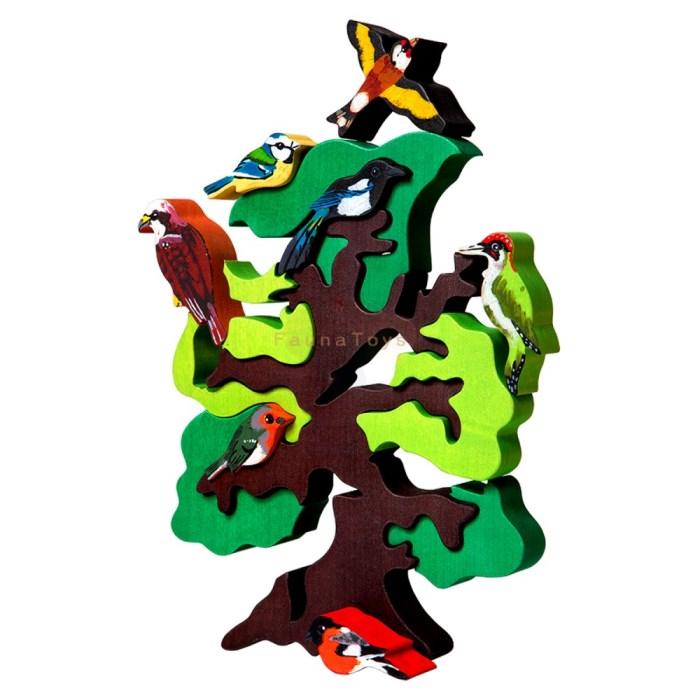 Puzzle strom ptaci Evropa