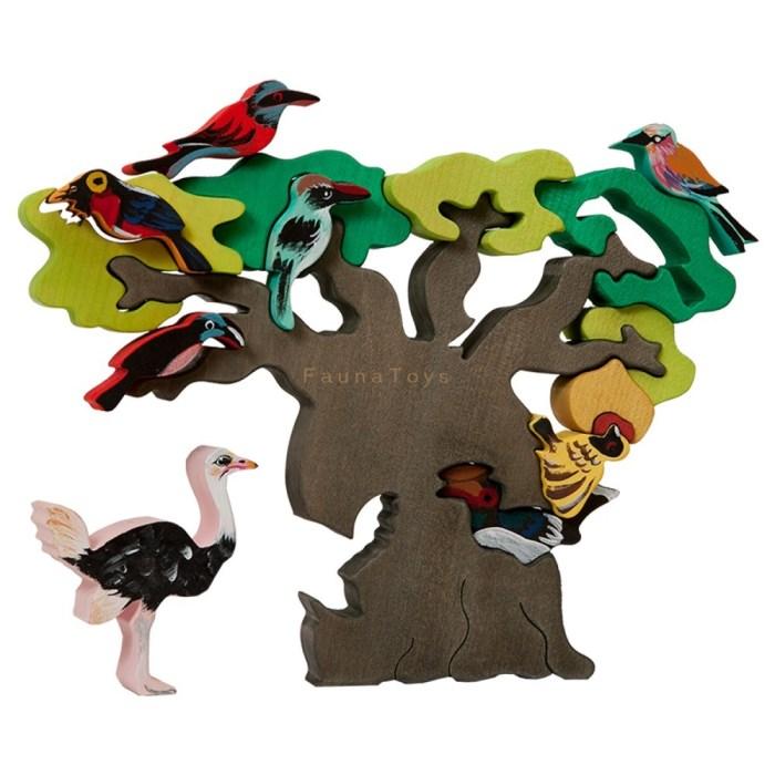 Strom ptaci Afrika