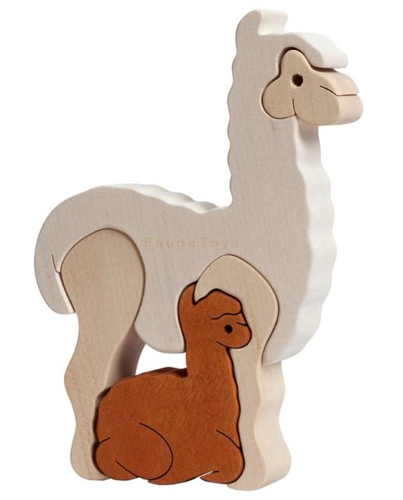 drevene-puzzle-lama