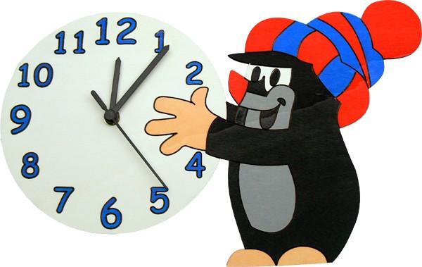 detske-hodiny-krtek